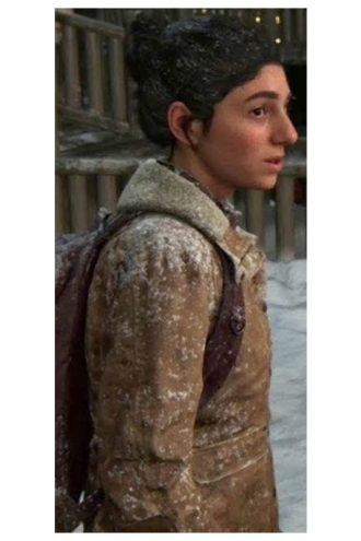 The Last Of Us Part II Dina Brown Leather Jacket With Fur Collar