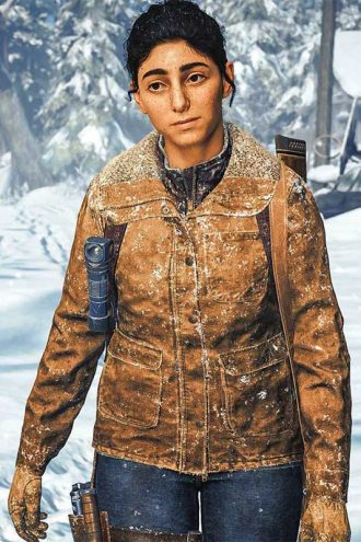 The Last Of Us Part II Dina Brown Shearling Jacket