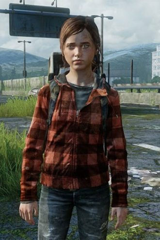 The Last Of Us Part II Ellie Checked Hoodie