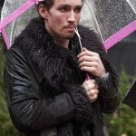 The Umbrella Academy Klaus Black Shearling Fur Coat