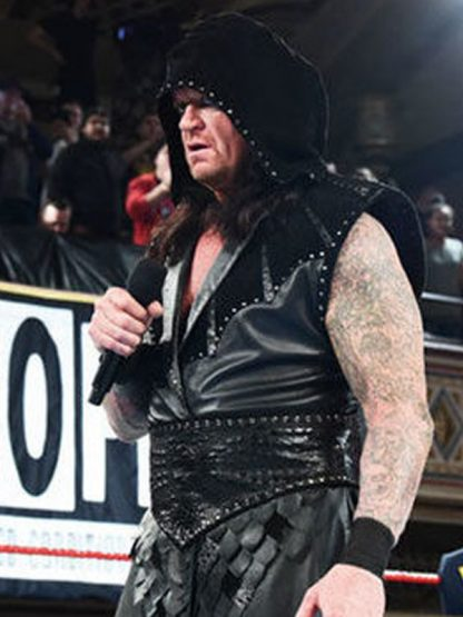The Undertaker Raw Black Leather Vest