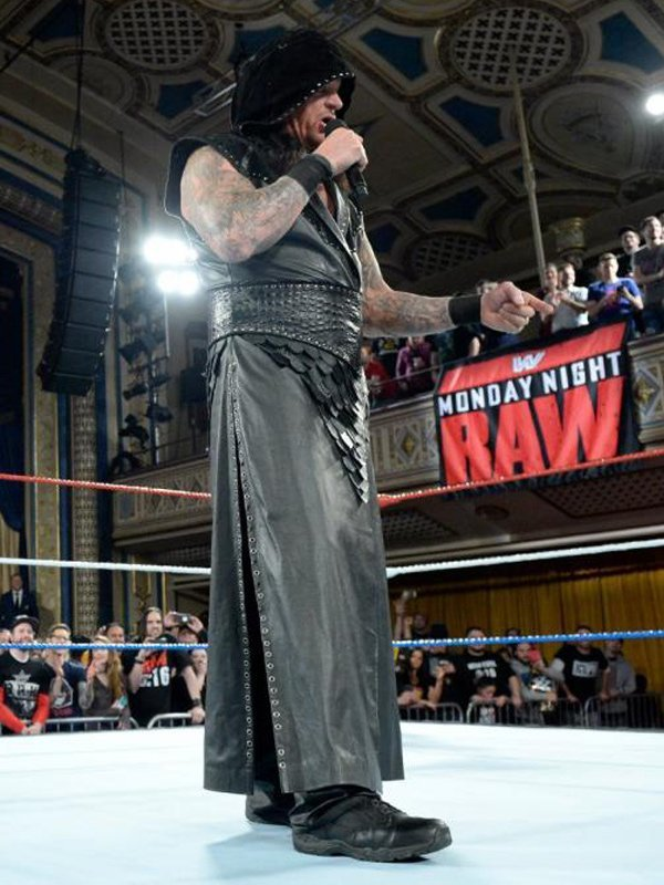 The Undertaker Wwe Black Leather Vest