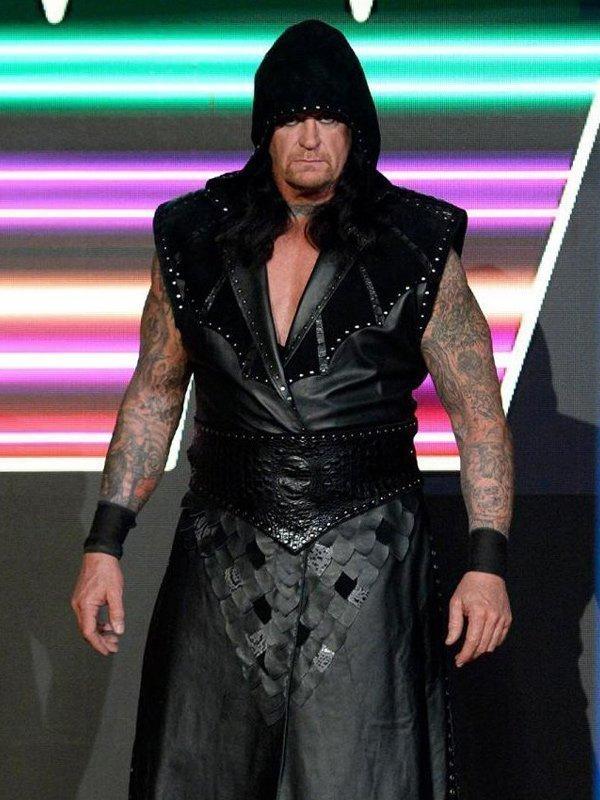 The Undertaker Wwe Raw Black Leather Vest