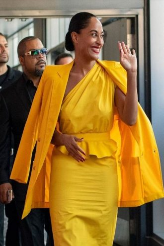 Tracee Ellis Ross The High Note Yellow Coat
