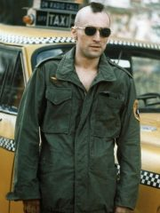 Travis Bickle Taxi Driver Green Cotton Jacket