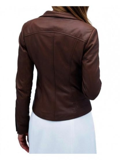 Tv Series Arrow Audrey Marie Anderson Brown Leather Jacket