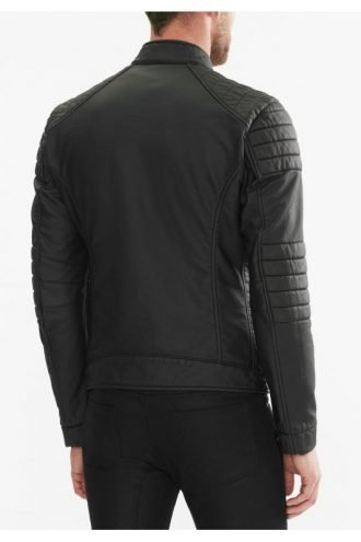 Tv Series Arrow John Barrowman Black Quilted Leather Jacket