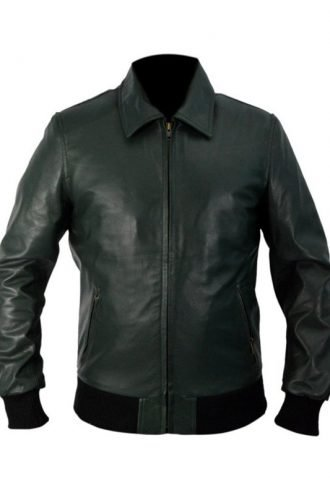 Tv Series Arrow Stephen Amell Leather Bomber Jacket