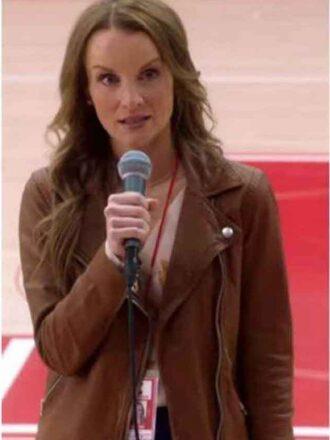 Tv Series High School Musical kate reinders Brown Leather Jacket