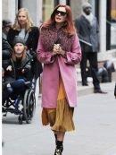 Tv Series Modern Love Lexi Pink Wool Coat
