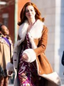 Tv Series Modern Love Lexi Suede Leather Brown Coat