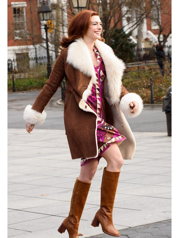 Tv Series Modern Love Lexi Suede Leather Fur Coat