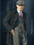 Tv Series Peaky Blinders Thomas Shelby Black Wool Coat