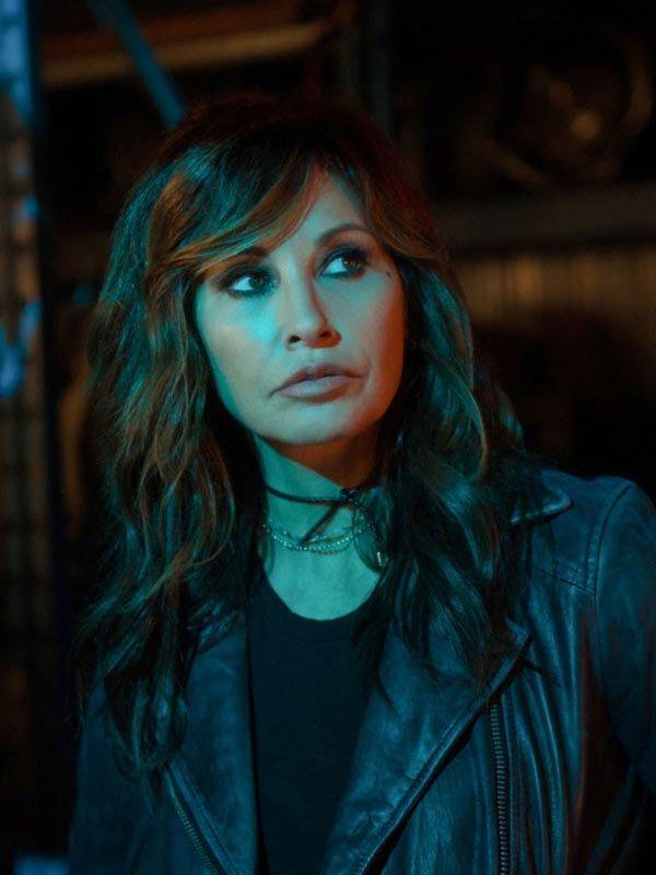 Tv Series Riverdale Gina Gershon Black Leather Biker Jacket