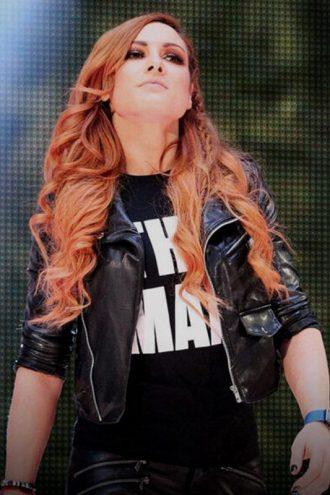 WWE Becky Lynch Biker Leather Jacket