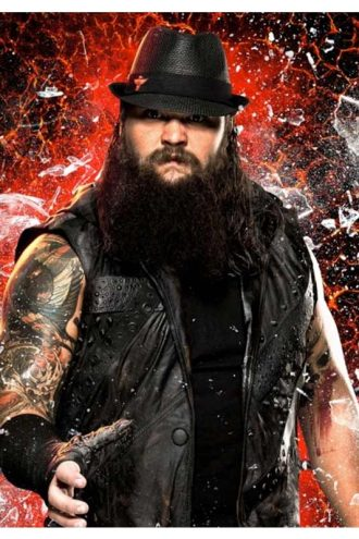 WWE Bray Wyatt Black Leather Hooded Vest