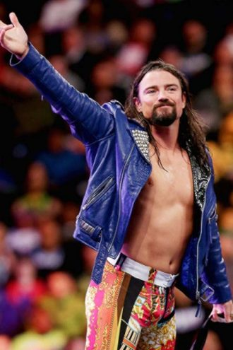 WWE Brian Kendrick Blue Leather Jacket