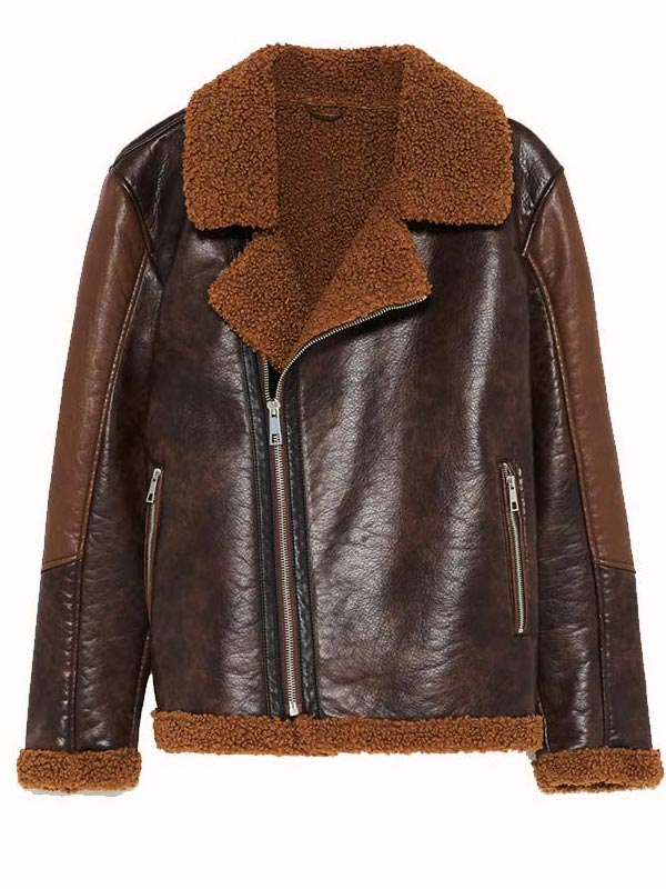 WWE Dean Ambrose Dark Brown Leather Jacket