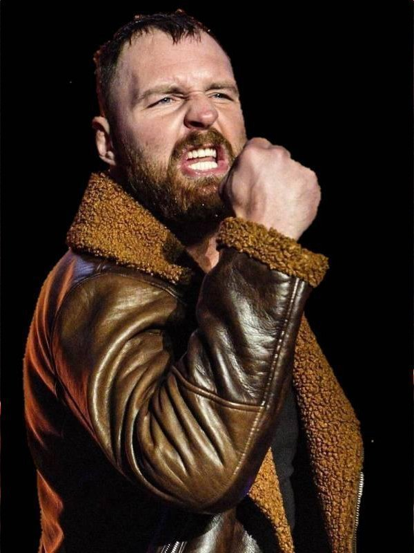 WWE Dean Ambrose Dark Brown Shearling Jacket