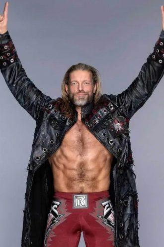 WWE Edge Royal Rumble Black Leather Coat