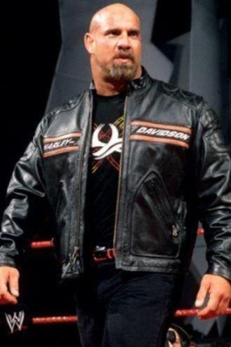 WWE Goldberg Harley Davidson Leather Jacket