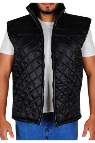 WWE John Cena Black Quilted Vest