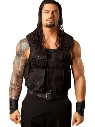 WWE Roman Reigns Tactical Black Vest