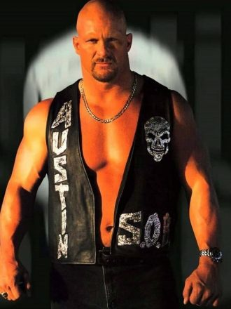 WWE Stone Cold Steve Austin 316 Skull Leather Vest