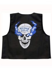 WWE Stone Cold Steve Austin Skull Black Leather Vest
