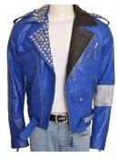 WWE Superstar Brian Kendrick Blue Biker Jacket