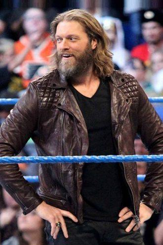 WWE Superstar Edge Brown Leather Jacket