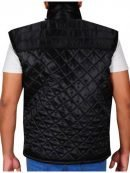 WWE Superstar John Cena Diamond Black Quilted Vest