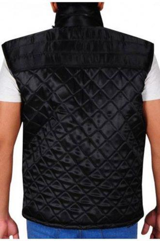 WWE Superstar John Cena Diamond Black Quilted Vest