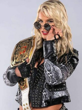 WWE Toni Storm Studs Leather Jacket