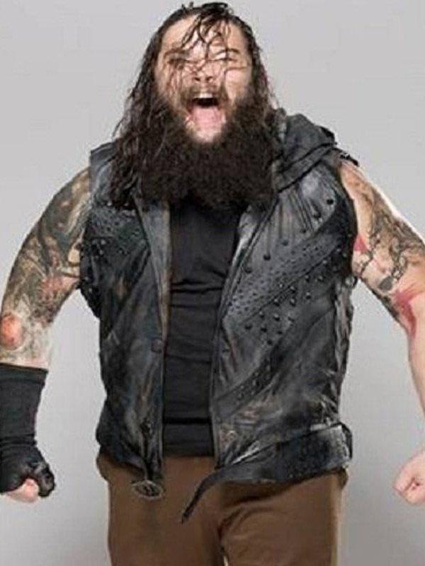 WWE Wrestler Bray Wyatt Black Leather Vest