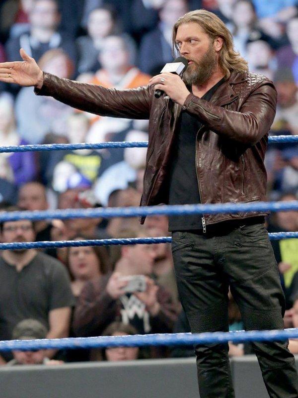 WWE Wrestler Edge Return Biker Leather Jacket