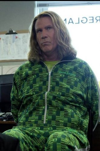 Will Ferrell Eurovision Song Contes Green Tracksuit