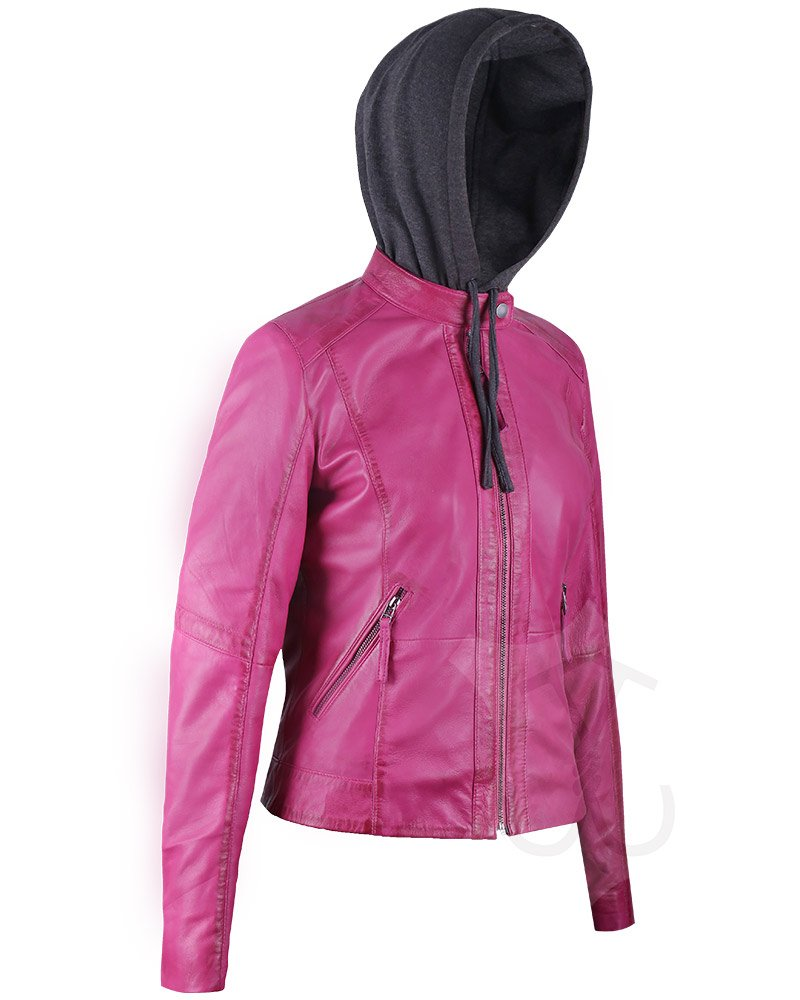 Women Quilted Real Leather Jacket