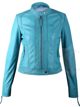 Women Slimfit Biker Leather Jacket