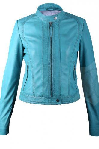 Women Slimfit Biker Leather Jacket