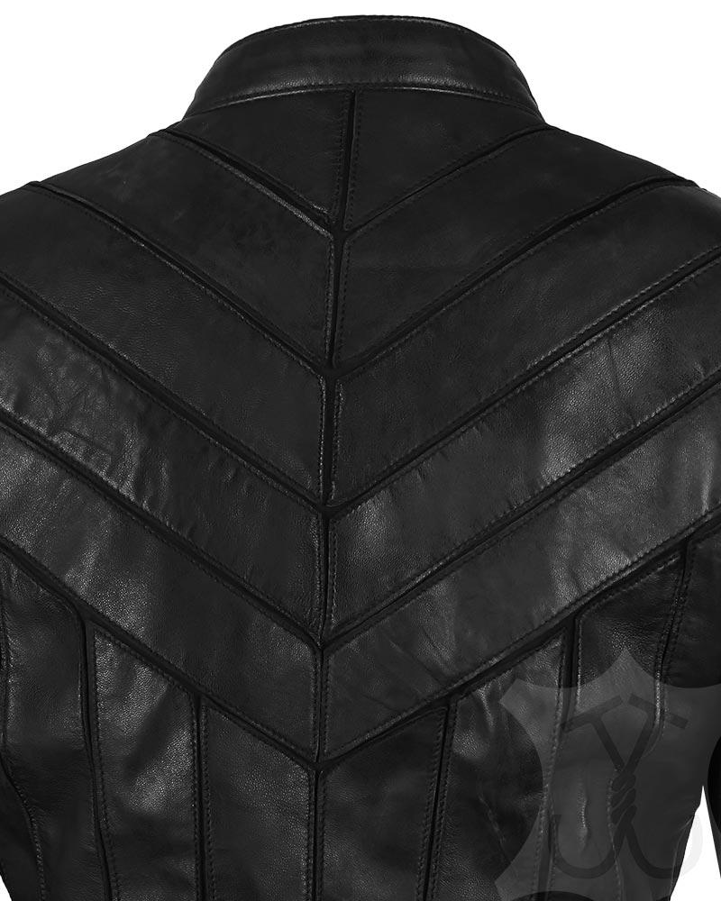 Women V-Style Black Jacket