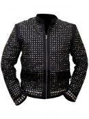 WrestleMania Chris Jericho Y2J Sparkle Light Up Leather Jacket