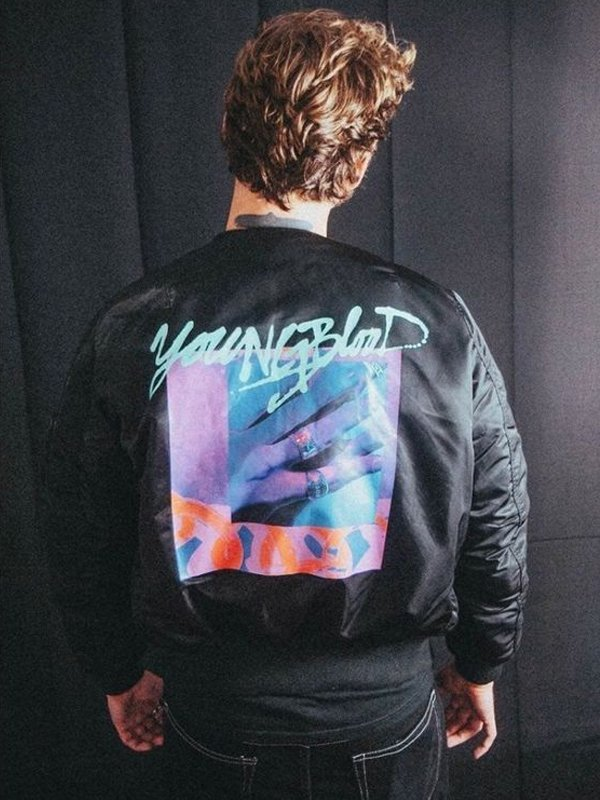 Youngblood 5SOS Michael Clifford Black Bomber Jacket
