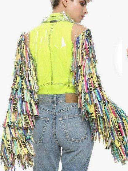 harley quinn birds of prey caution tape jacket