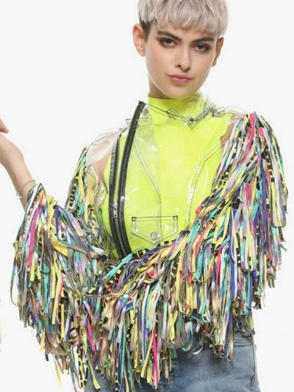 harley quinn birds of prey confetti jacket