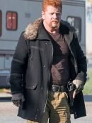 Abraham Ford The Walking Dead Black Wool Jacket