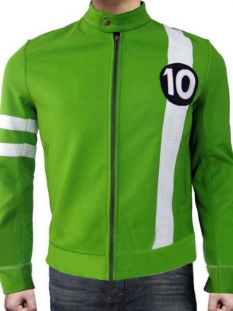 Alien Swarm Ben 10 Leather Green Jacket