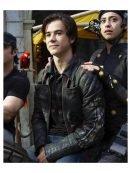 Alita Battle Angel Hugo Biker Leather Jacket