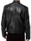 Avengers Endgame Chris Evans Black Leather Biker Jacket