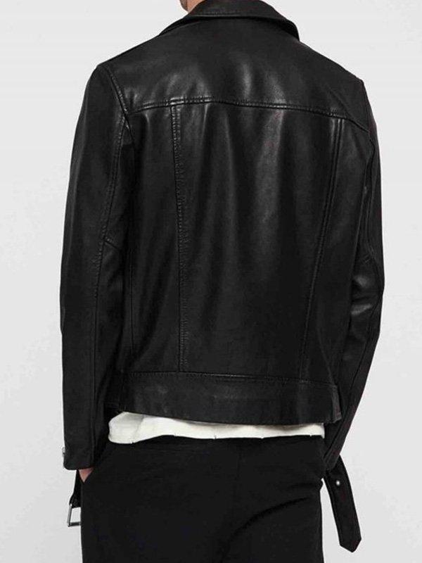 Barry Allen The Flash Black Leather Jacket